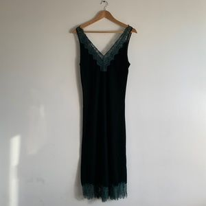 H&M Green Velvet Dress